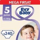 Evy Baby Bebek Bezi 5 Beden Junior Mega Fırsat Paketi 240 Adet
