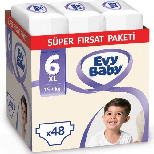 Evy Baby Bebek Bezi 6 Beden Ekstra Large Süper Fırsat Paketi 48 Adet