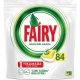 Fairy Hepsi Bir Arada 84 Yıkama Bulaşık Makinesi Deterjanı Limonlu