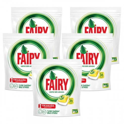 Fairy Hepsi Bir Arada Kapsül Limon 36 lı x 5 Adet
