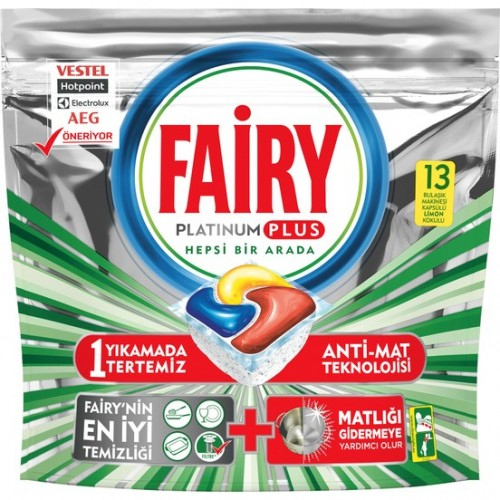 Fairy Platinum Plus Bulaşık Makinesi Tableti 13 lü