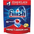 Finish Hepsi Bir Arada Limonlu Bulaşık Makinesi Deterjanı 80 Tablet