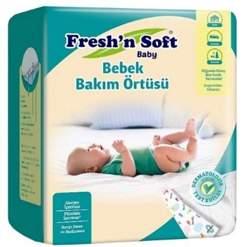 Freshn Soft Baby Bebek Bakım Örtüsü 10 Adet 60x60cm