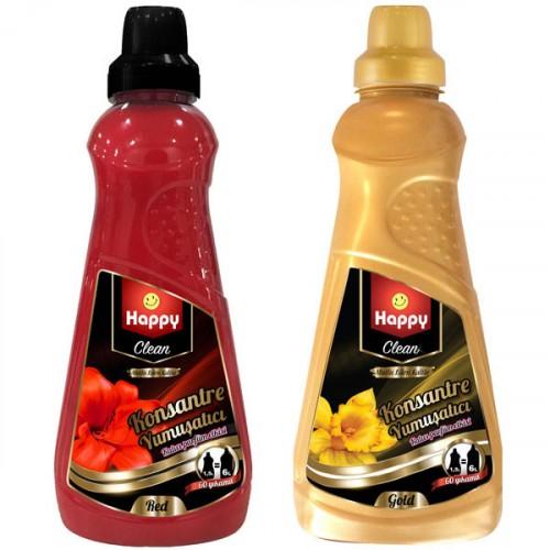 Happy Clean Konsantre Yumuşatıcı Red 1500 ml  + Gold 1500 ml