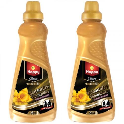 Happy Clean Konsantre Yumuşatıcı Gold 1500 ml x 2 Adet