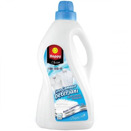 Happy Clean Sıvı Çamaşır Deterjanı Beyaz İnci 3 lt