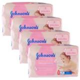 Johnsons Baby Islak Mendil Hassas 3 lü Paket x 4 Adet (672 Yaprak)