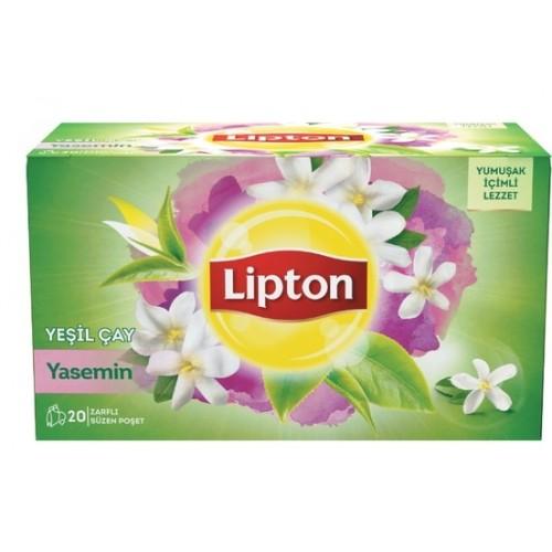 Lipton Bardak Poşet Yeşil Çay Yaseminli 20 li