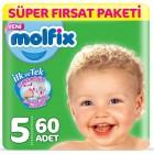 Molfix Bebek Bezi 5 Beden Junior Süper Fırsat Paketi 60 Adet