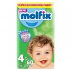 Molfix Bebek Bezi 4 Beden Maxi Dev Ekonomik Paket 60 adet