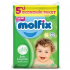 Molfix Islak Havlu Losyonlu 60 lı 5 li Paket (300 Yaprak)