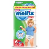 Molfix Pants Külot Bezi Süper Fırsat Paketi Ekstra Large 6 Beden 50 li