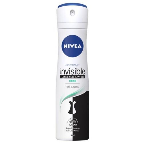 Nivea Invisible Black & White Fresh Kadın Deodorant 150 ml