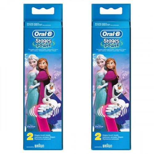 Oral-B Stages Power Frozen Diş Fırçası Yedeği 2 li x 2 Adet