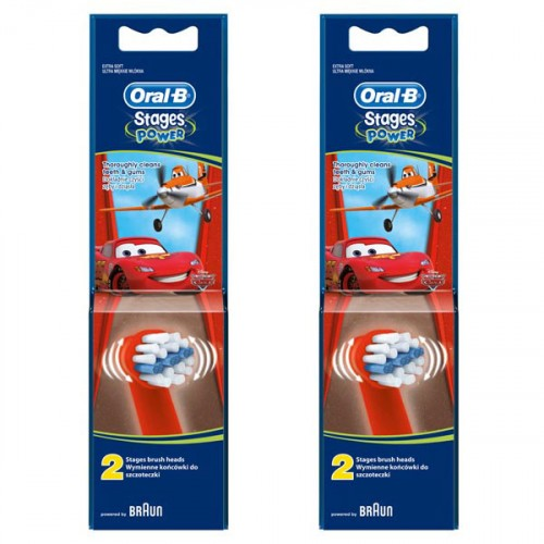 Oral-B Stages Power Diş Fırçası Yedeği 2'li Paket (THE CARS) x 2 Adet
