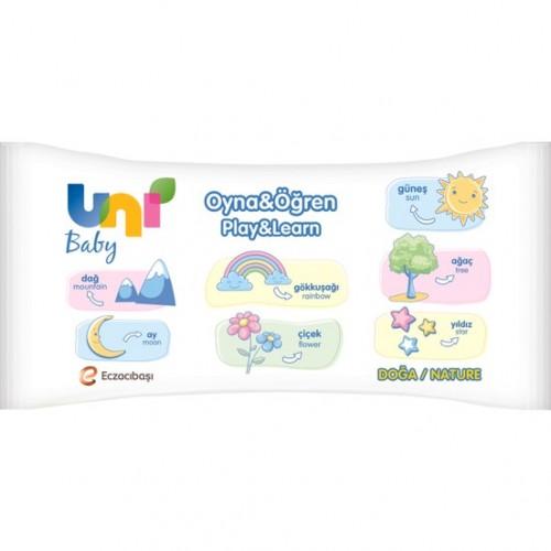 Uni Baby Oyna ve Öğren Islak Mendil 3X52 Adet (156 Yaprak)