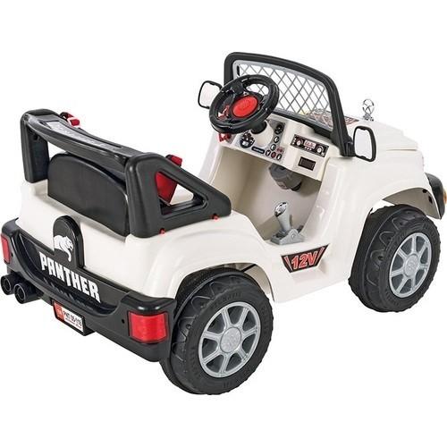 Pilsan Panther Akülü Araba 12 Volt Kumandalı (Kirli Beyaz)  05 118