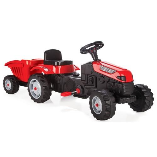 Pilsan Active Römorklu Traktör Pedallı - Kırmızı 07-316