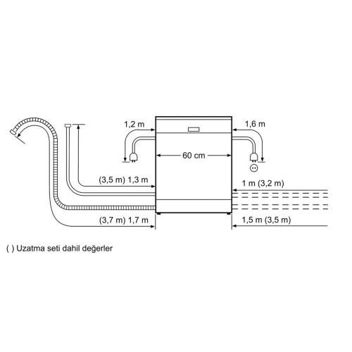 Profilo BM4380EG A+ 4 Programlı Inox Bulaşık Makinesi