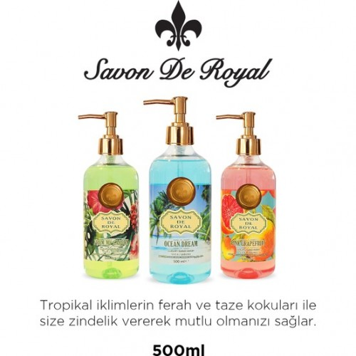 Savon De Royal Tropical Sıvı El Sabunu Pembe Greyfurtlu 500 ml