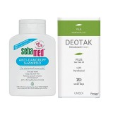Sebamed Şampuan Kepek Önleyici 400 ml+Deotak Krem Deodorant Plus 35 ml