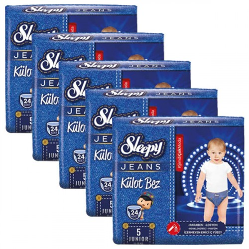 Sleepy Jeans Külot Bez Junior 5 No 24 lü x 5 Adet