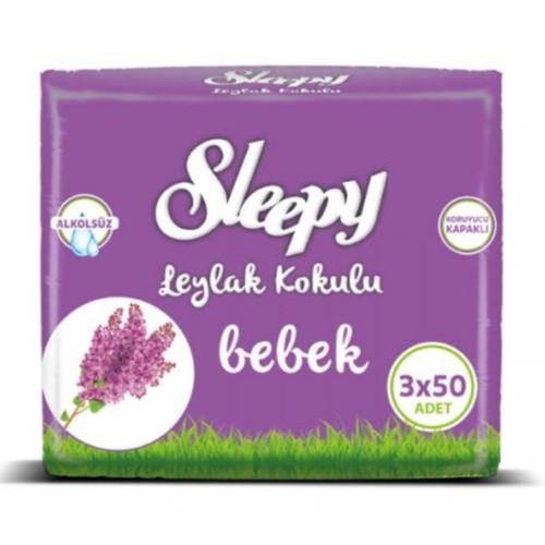 Sleepy Islak Havlu Leylak Kokulu 50 li x 3 Adet (150 Yaprak)