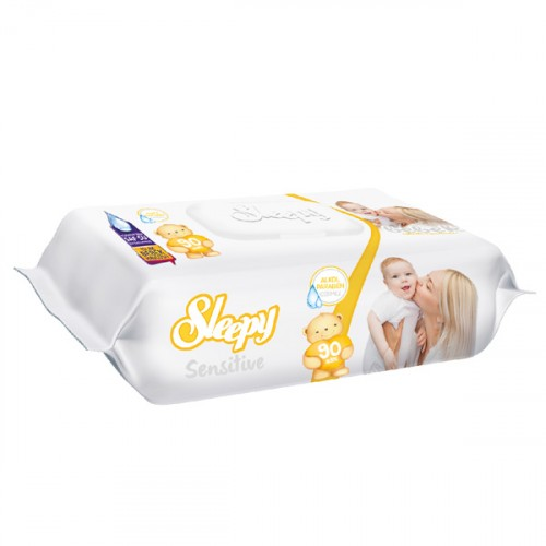 Sleepy Islak Havlu Sensitive 90 lı