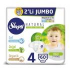 Sleepy Natural Bebek Bezi Maxi 4 No 30 lu x 2 Adet