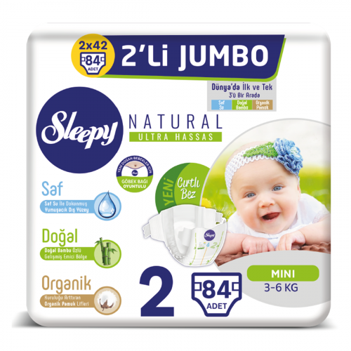 Sleepy Natural Bebek Bezi Mini 2 No 84 lü