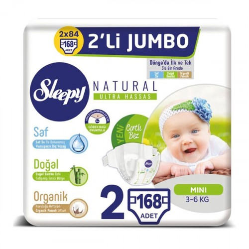 Sleepy Natural Bebek Bezi Mini 2 No 42 li x 4 Adet