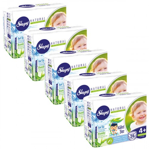 Sleepy Natural Külot Bez Maxi Plus 4+ No 26 lı x 5 Adet