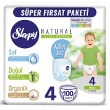 Sleepy Natural Külot Bez Mega Paket Maxi 4 No 100 lü
