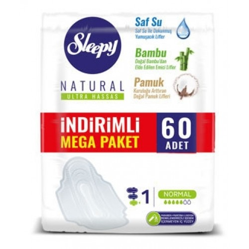 Sleepy Natural Ultra Hassas Normal Mega Paketi 60 lı