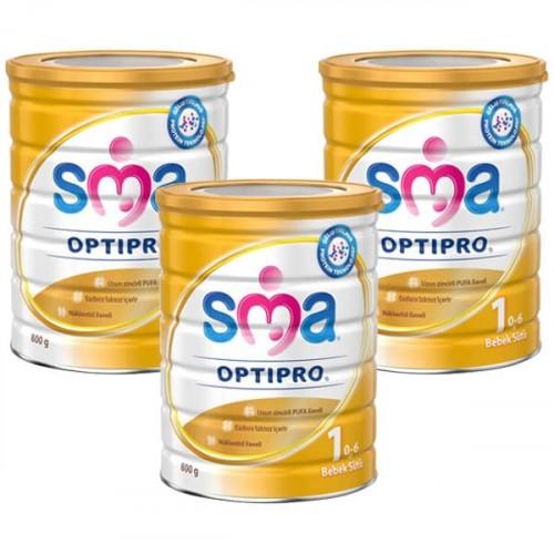 SMA 1 Optipro Bebek Sütü 800 gr x 3 Adet