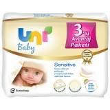 Uni Baby Sensitive Islak Havlu 56 lı x 3 Adet (168 Yaprak)