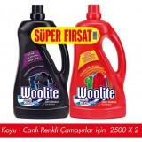 Woolite Sıvı Çamaşır Deterjanı Koyu 2,5 lt  + Canlı Renkler 2,5 lt