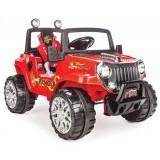 Pilsan Ranger Akülü Araba 12 Volt (Uzaktan Kumandalı) Kırmızı 05 107