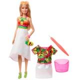 Barbie Crayola Mevyeli Tasarım Bebeği GBK18