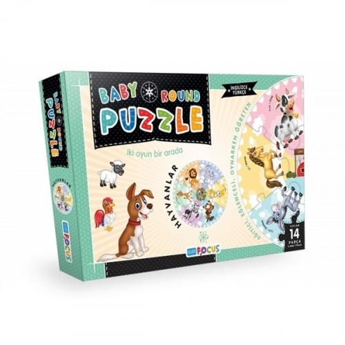 Blue Focus Yayınları Baby Round Puzzle- Hayvanlar BF074