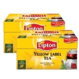 Lipton Yellow Label Demlik Poşet Çay 100'lü 320 gr x 2 Adet