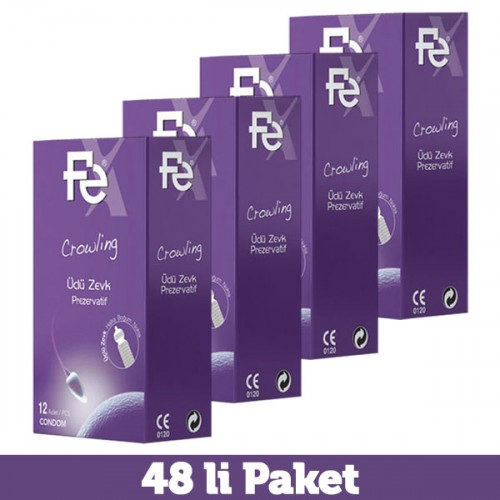 Fe Crowling Üçlü Zevk Prezervatif 12 li x 4 Adet