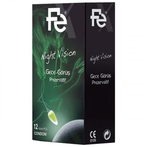 Fe Nigh Vision Gece Görüş Prezervatif 12 li