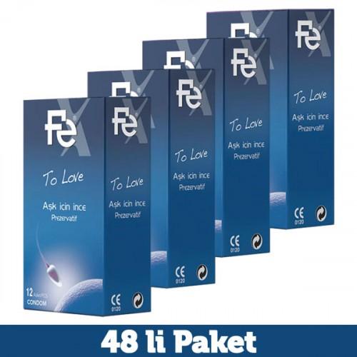 Fe To Love Aşk İçin İnce Prezervatif 12 li x 4 Adet