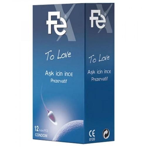 Fe To Love Aşk İçin İnce Prezervatif 12 li