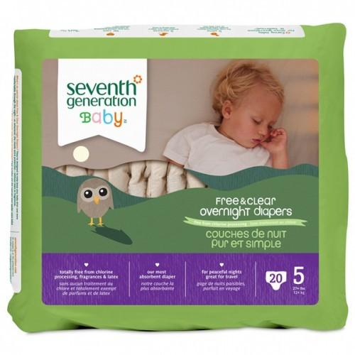 Seventh Generation Bebek Bezi Gece Boyu 5  Beden 20 Adet
