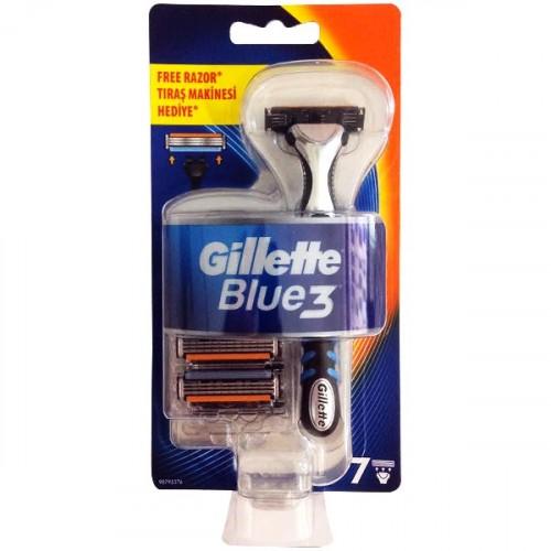Gillette Blue3 Sistem Makine + 7 Yedek Başlık