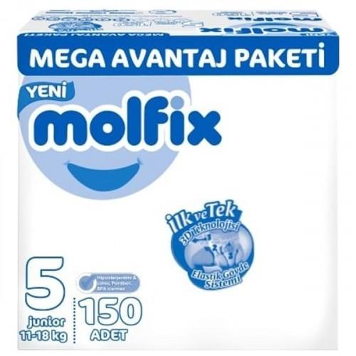 Molfix Bebek Bezi Mega Avantaj Paket Junior 5 No 150 li