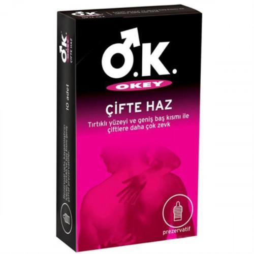 Okey Kondom Çifte Haz 10 lu