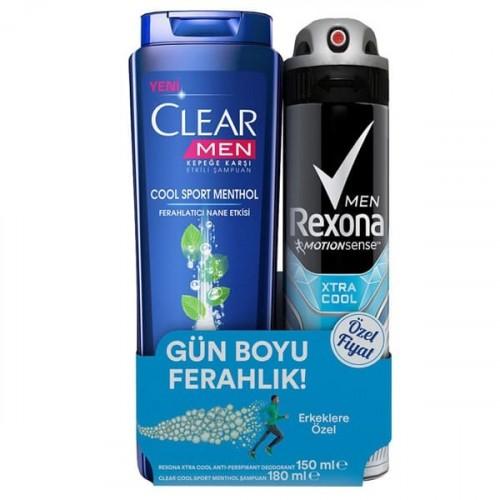 Rexona Deodorant Xtra Cool Men 150 ml + Clear 180 ml